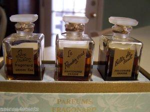 Vintage Fragonard Parfums-Boxed Set-Set of 3 Parfums
