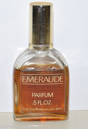 Vintage Coty Emeraude Pure Parfum-1/2 fl. oz