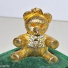 Vintage Max Factor Aquarius Creme Perfume Teddy Bear