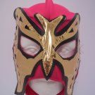 LADY WOMEN PRINCESS BUTTERFLY PINK GOLD ADULT SIZE MEXICAN WRESTLING MASK