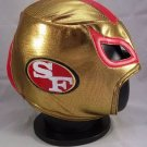 NFL UNOFFICIAL 49'S SAN FRANCISCO STYLE MASK PRO FIT MEXICAN WRESTLING MASK LUCHA LIBRE HALLOWEEN