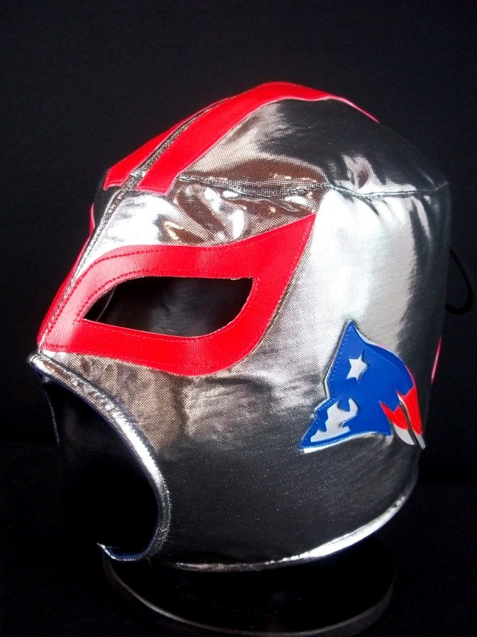 NFL UNOFFICIAL PATRIOTS NEW ENGLAND STYLE MASK PRO FIT MEXICAN WRESTLING MASK LUCHA LIBRE HALLOWEEN