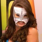 WHITE SEXY LADY MASK!! WOMEN WOMAN LADIES PRO FIT MEXICAN WRESTLING MASK LUCHA LIBRE HALLOWEEN