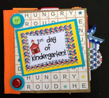 Paper Therapy Mini Scrapbook-1st Day of Kindergarten