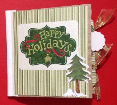 Paper Therapy Mini Scrapbook-Happy Holidays