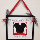 Paper Therapy Baby Shower Door/ Wall Hanging-Mickey Mouse