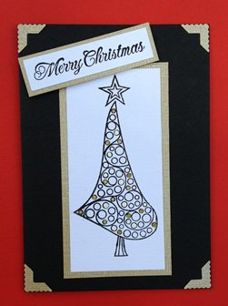 Paper Therapy Black and Tan Christmas Tree