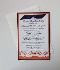 Paper Therapy Flat Invitation w/Flower Border