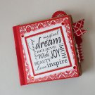 Paper Therapy Red & White-Dream Mini Scrapbook