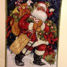Santa with Sled  | Quilted Flag | Paper Therapy