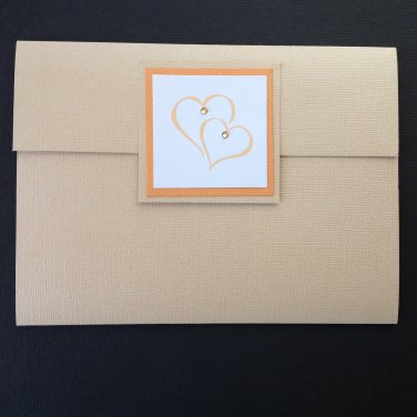 Paper Therapy | Pocket Fold | Stamped | Invitation| Hearts