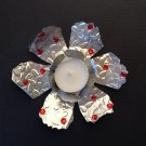 Metal flower w/ tea light candle | Paper Therapy