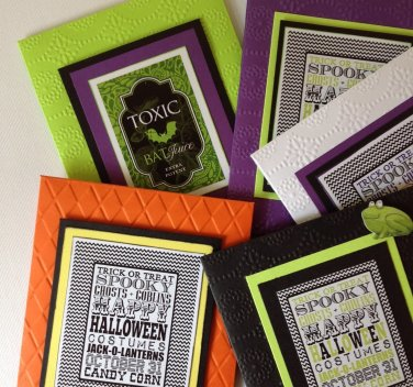 Halloween | Hot Chocolate Packs | Embossed | Paper Therapy