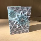Christmas Card | Blue Snowflake 2 | Paper Therapy