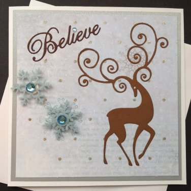 Christmas Card | Fancy Reindeer | Paper Therapy