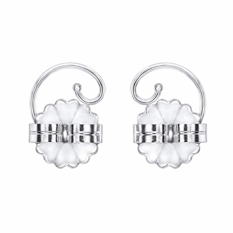 Levears 14K White Gold Pierced Ear Lobe Earrings backs Lift Support Post / Stud