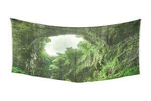 Shawlux Deep Hunter Green Palette Forest Hole Print Scarf Wrap Shawl