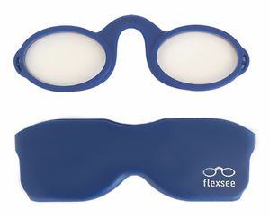 Blue Flexsee Nose Resting Flexible Silicone Phone Readers/Reading Glasses +2.00