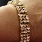 Yellow Gold Bracelet Rose Golden Topaz Swarovski Elements Oliver Weber