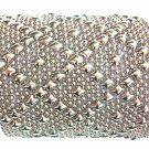 SG Liquid Metal Bracelet Silver Wide Mesh Cuff Sergio Gutierrez B26 / ALL SIZES