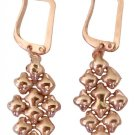 SG Liquid Metal Small Oval 24K Rose Gold Mesh Earrings E32 by Sergio Gutierrez