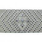 SG Liquid Metal Silver Mesh Fleur de Lis Bracelet Crystal Clear Cubic Zirconia