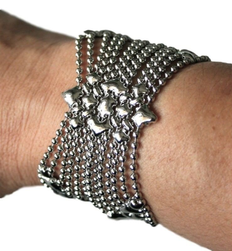 Liquid Metal Silver Mesh Butterfly Cuff Bracelet Sergio Gutierrez B77 ALL SIZES