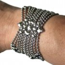 Liquid Metal Silver Mesh Butterfly Cuff Bracelet Sergio Gutierrez B77 ALL SIZES