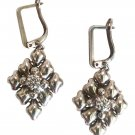 SG Liquid Metal Crystal Small Mesh Earrings By Sergio Gutierrez RTE2