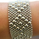 SG Liquid Metal Silver Mesh Cuff Bracelet by Sergio Gutierrez B9 / All SIZES