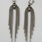SG Liquid Metal Tiny Ball Chains Silver Earrings by Sergio Gutierrez E42