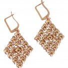 SG Liquid Metal 24K Rose Gold Mesh Earrings Diamond Style E15  Sergio Gutierrez