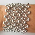 SG Liquid Metal Silver Cascade Mesh Bracelet by Sergio Gutierrez B79 ALL SIZES