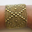 SG Liquid Metal Bracelet Antique Gold Mesh Cuff B10 Sergio Gutierrez ALL SIZES