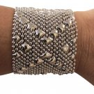 SG Liquid Metal Maleficent Mesh Bracelet Silver Mesh Cuff B105 All SIZES