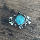 SG Liquid Metal Turquoise Silver Mesh Ring by Sergio Gutierrez RTR4 Size 8