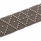 Antique Silver Mesh Bracelet SG Liquid Metal by Sergio Gutierrez B10 Size 8.5 XL