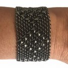 Liquid Metal Medium Diamonds Black Mesh Bracelet Sergio Gutierrez B9 ALL SIZES
