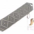 SG Liquid Metal Silver Stainless Steel Mesh Cuff Bracelet Sergio Gutierrez B10