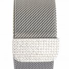 Zirconia Silver Milanese Loop Stainless Steel Band Strap Apple Watch 38/42 mm