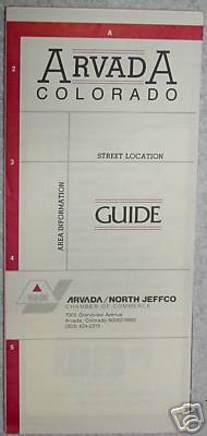 Arvada Colorado Street Location Guide/Map 1988 (Arvada/North JeffCo Chamber)