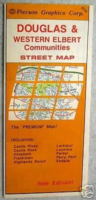 1988 Douglas & Western Elbert Counties, Colorado Street Map (Pierson Graphics Corporation)