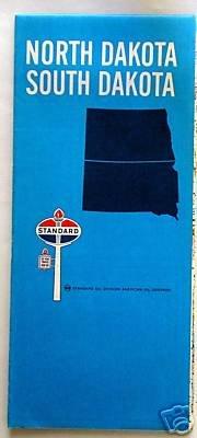 1969 North & South Dakota State Road Map (Standard Oil / Rand McNally)