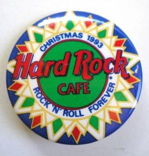 Hard Rock Café Christmas 1993 Pin / Button
