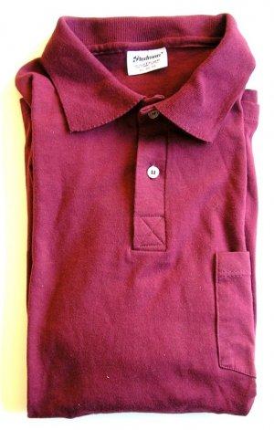 Stedman (Hanes) Maroon Polo Short Sleeved Shirt Size XL
