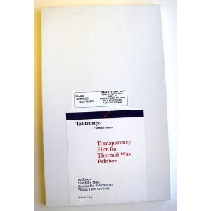 Tektronix Phaser II Printer Transparency Film 30 Sheets (016-0955-00)