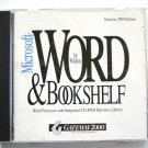 Microsoft Word for Windows & Bookshelf (1992) CD-ROM