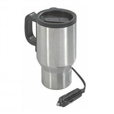 NexxTech Stainless Steel Heated 14oz Travel Mug Plugs into 12V (631-8375)