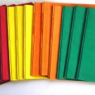 16 Portfolo/Report Covers w Fasteners+Title Box Window: Red,Yellow,Orange,Green