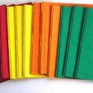 16 Portfolo/Report Covers w Fasteners+Title Box Window: Red,Yellow,Orange,Green